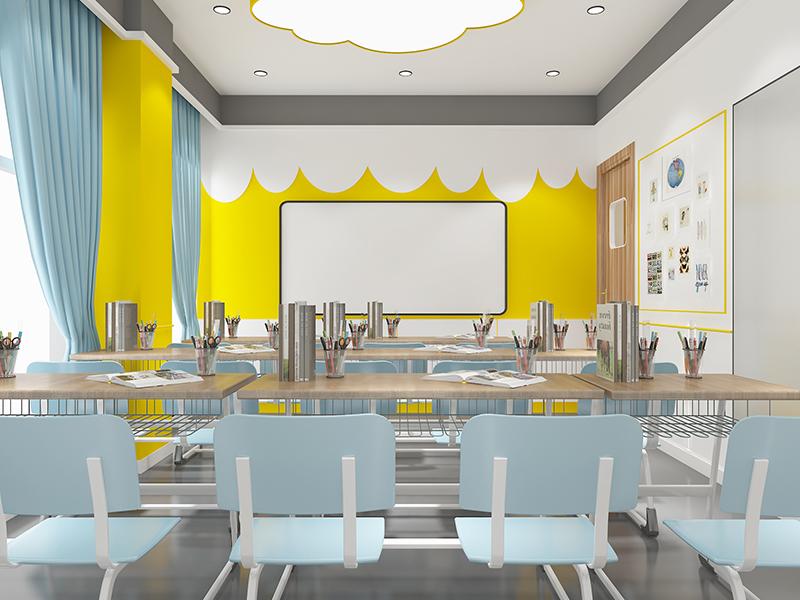 教育培训装修美术艺术展舞蹈工作室幼儿园培训空间设计装修设计