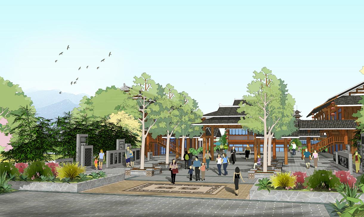 商业街广场公共空间景观规划设计施工图效果图建筑设计专业公司
