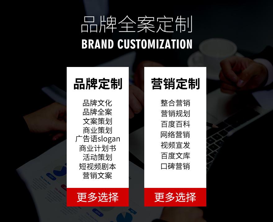 品牌策划营销品牌故事企业文化公司简介产品定位文案设计广告语