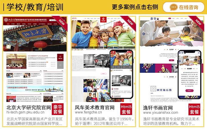 教育手机网站 P2P网站制作外贸网站建设门户网站视频网站设计