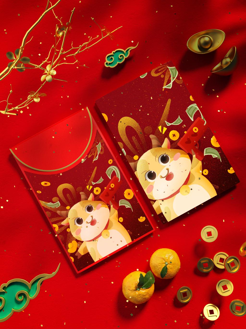 商业插画绘制插图文创周边物料礼品设计微信红包包装盒袋纸杯抱枕
