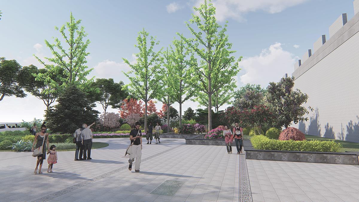 小公园景观设计,新农村文化广场设计,校园广场设计,景观效果图