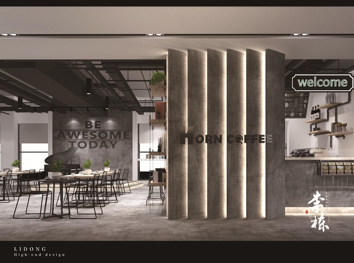 【李栋】办公室设计公装效果图家装设计店铺设计餐厅设计展厅餐饮