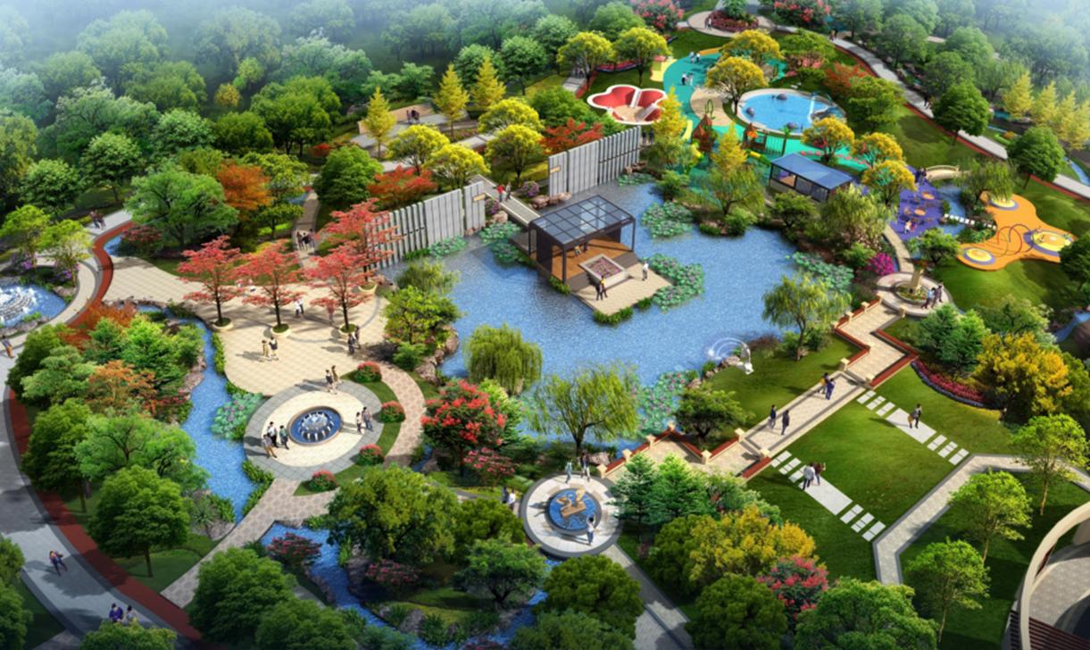 景观效果图农庄农业园区自建房房屋园林建筑鸟瞰效果图施工图设计