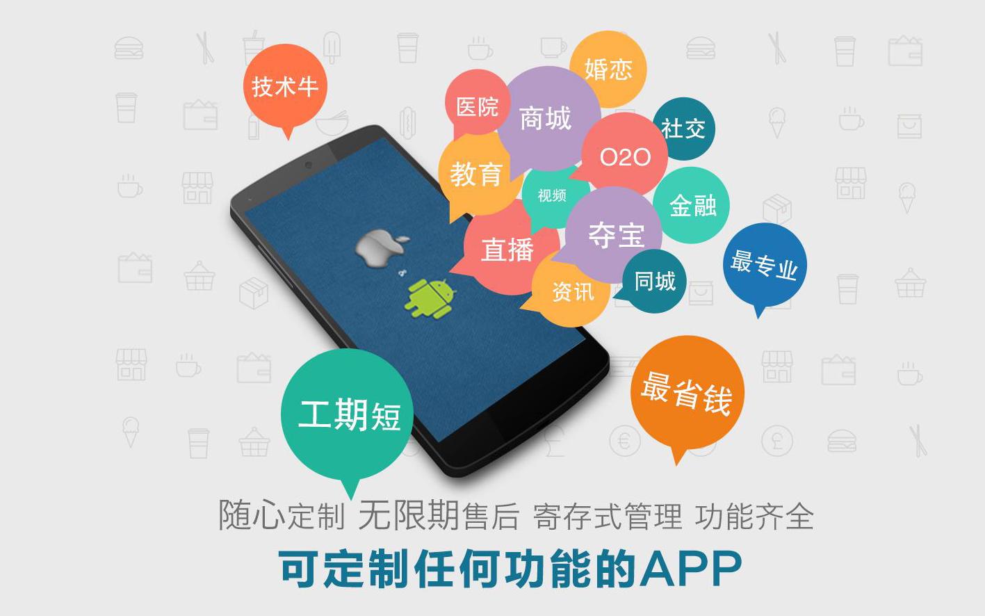 APP开发安卓苹果手机端|APP定制开发教育电商社交社区任务