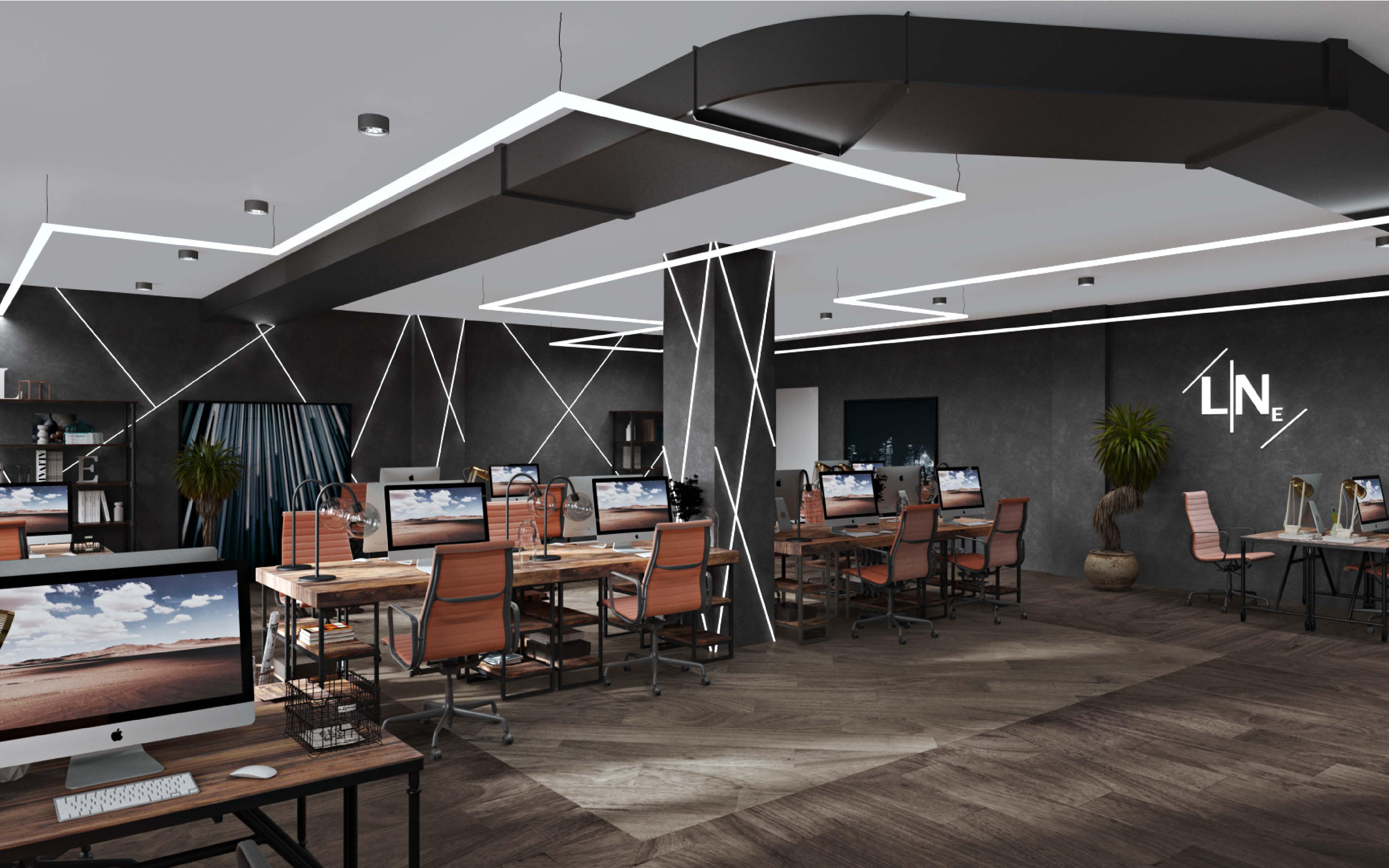 办公空间设计SI连锁店展厅餐饮店面KTV公装室内家装修效果图