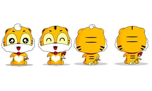 静态卡通吉祥物衍生表情动作(可换衣、加小道具等)