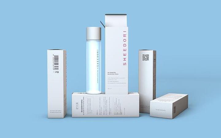 美妆酒标包装盒包装袋包装箱插画礼盒瓶型手提袋瓶贴设计包装设计