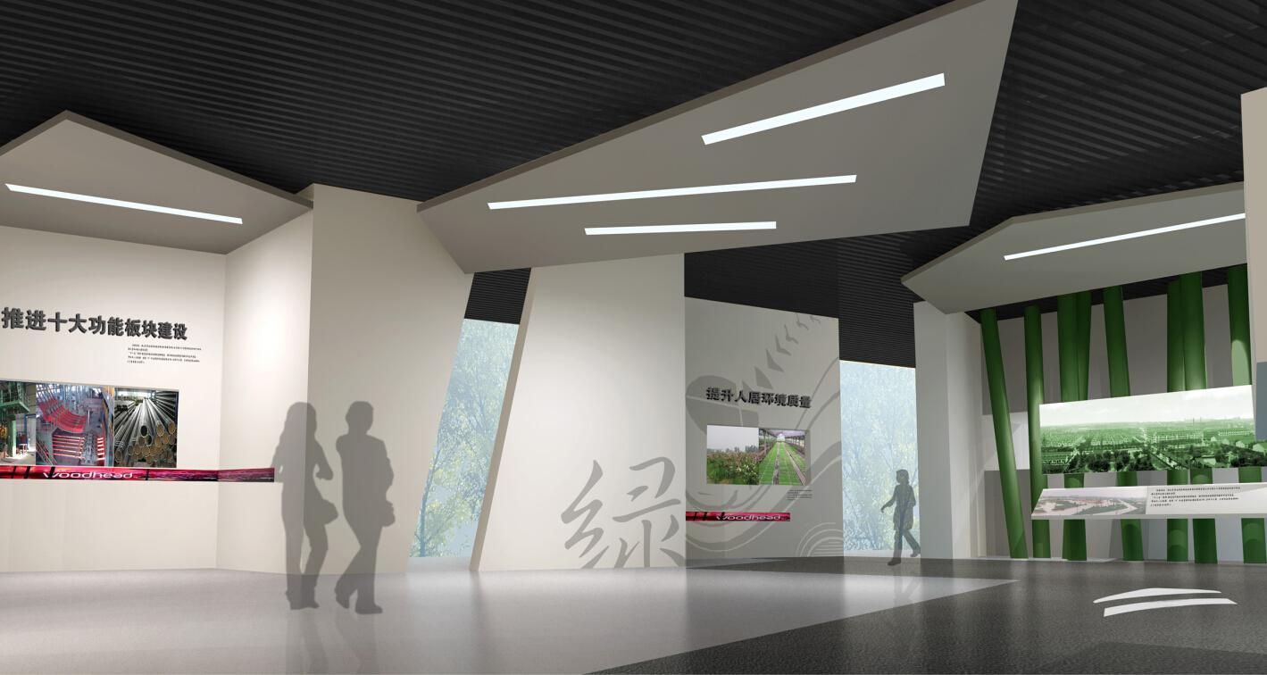 展厅设计展馆校史馆装修设计学校政府企业公司文化墙走廊 效果图
