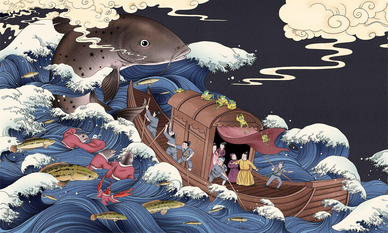 手绘四多格漫画商企业动漫长图绘本图书美术插画设计外包定制