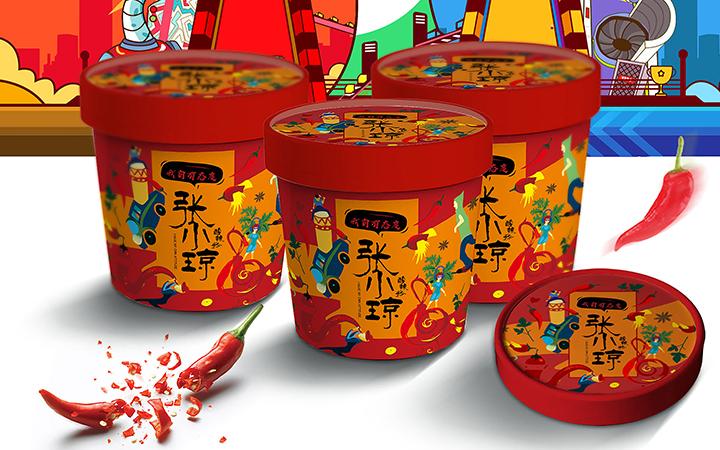 包装设计茶叶礼盒手绘插画食品零食产品包装盒包装袋瓶贴标签设计