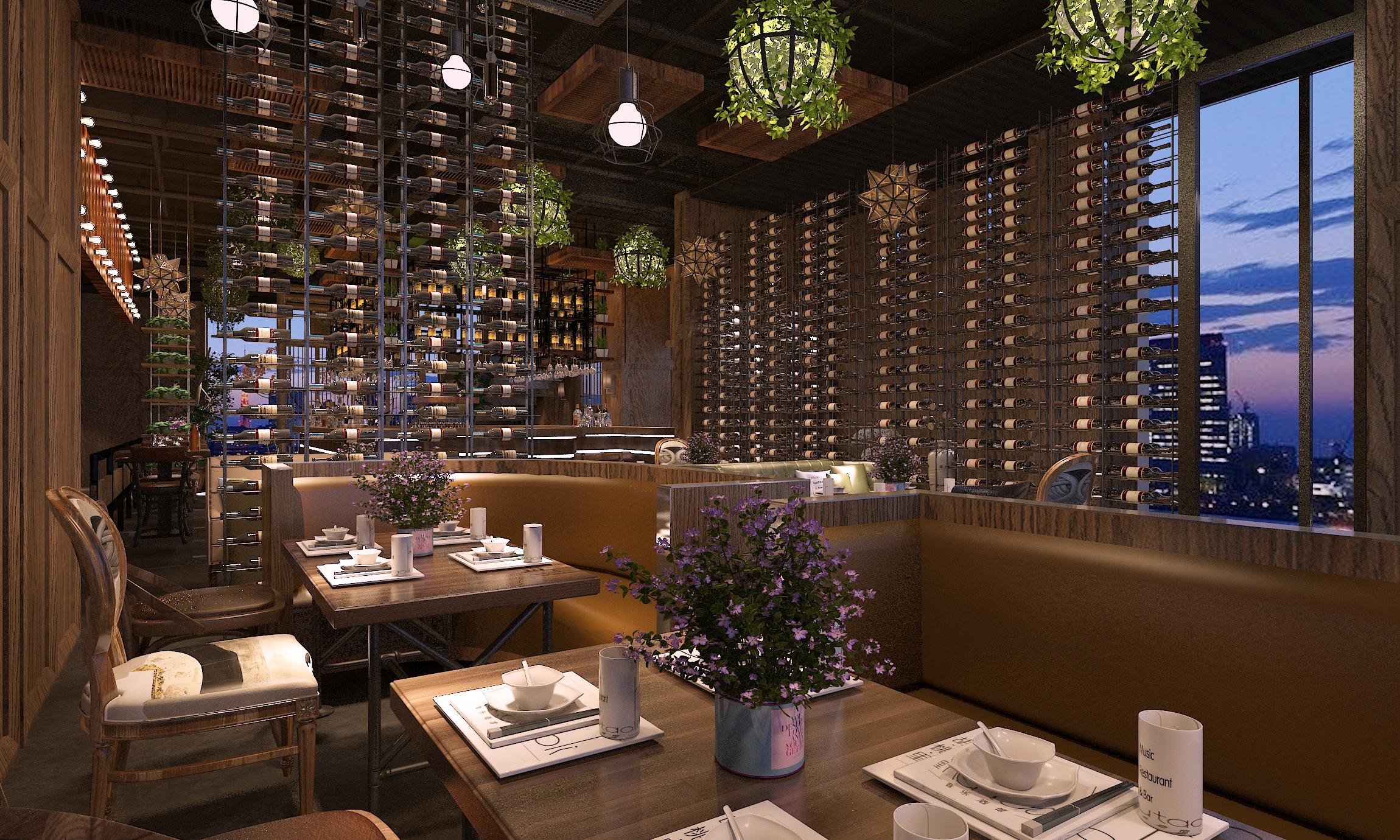 咖啡厅酒吧音乐餐厅自助餐厅火锅店烧烤餐饮店室内空间装修设计