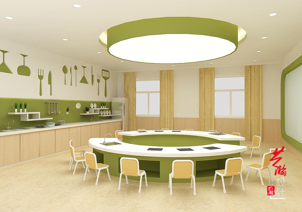 幼儿园效果图设计方案教育施工图教育培训机构装修设计室内设计