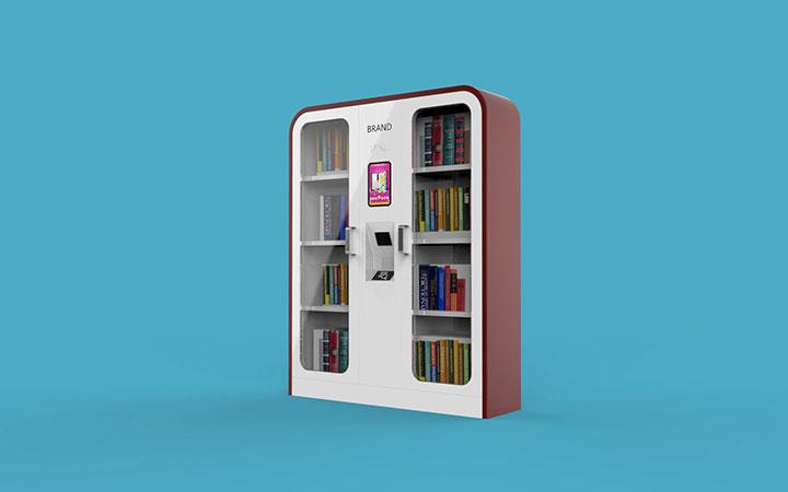 自助售货机饮料果汁咖啡机图书柜饮品一体机工业产品外观结构设计
