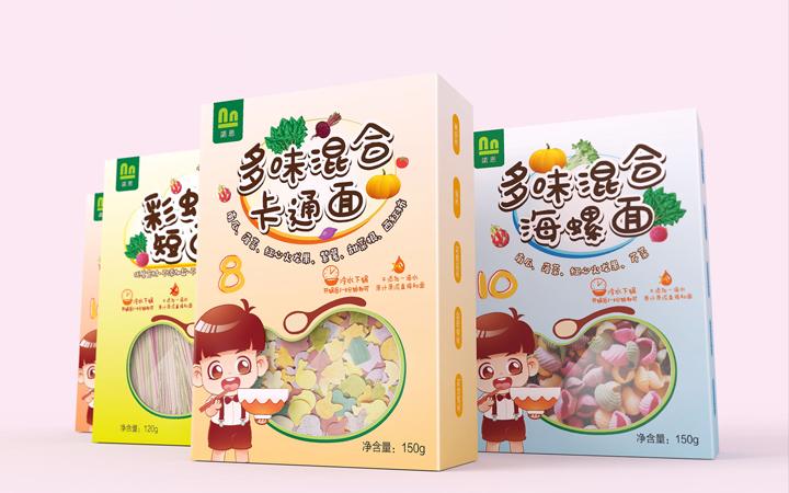 【插画包装设计】手绘设计海鲜水果包装设计效果图外包装设计