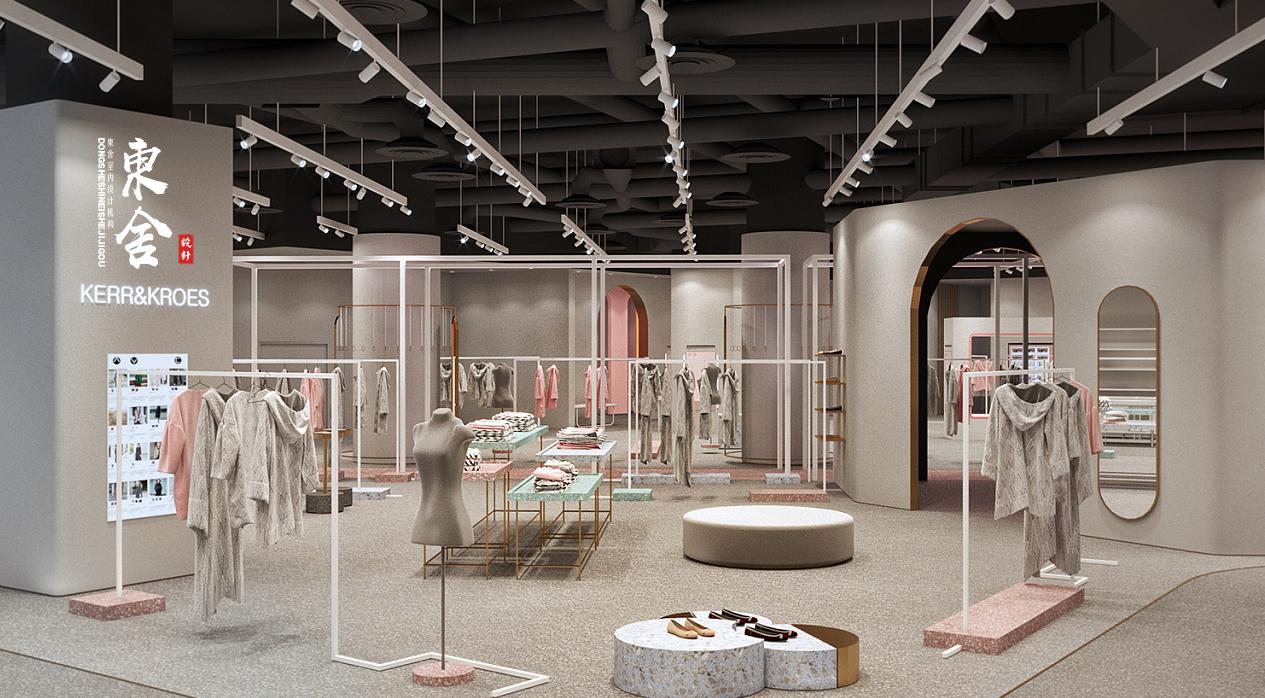 【东舍设计】服装店设计女装店设计精品服装店设计室内设计