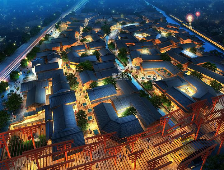 景观厂房自建房园林建筑鸟瞰图效果图建模设计民宿施工图装修设计