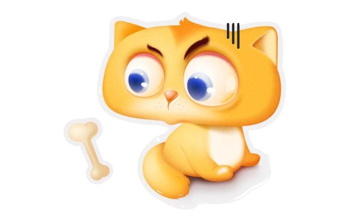 宣传四格漫画动物吉祥物卡通形象原型人物头像表情包效果图设计