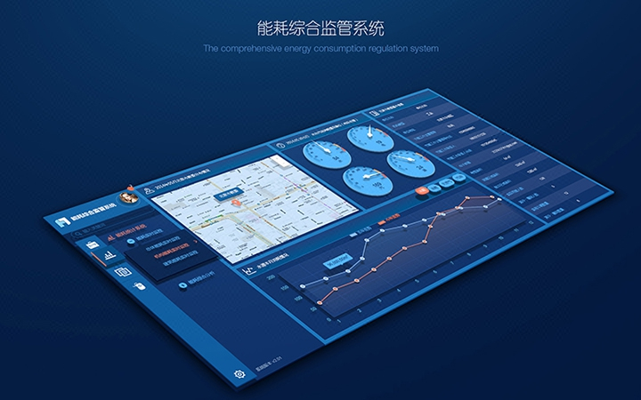 软件界面UI设计OA办公后台智能管理系统网站页面美工化科技感