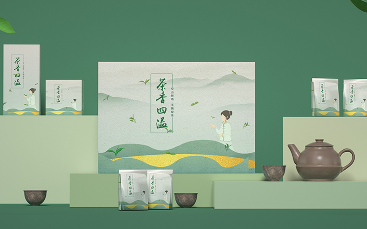 创意包装设计瓶贴设计礼品盒设计产品包装零食包装设计效果图渲染