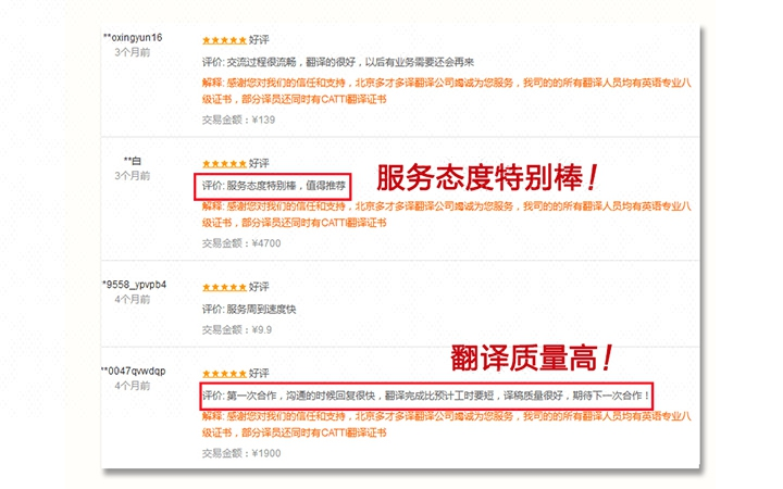 【旗舰店】人工英语英文翻译服务公司电商法律合同机械说明书简历