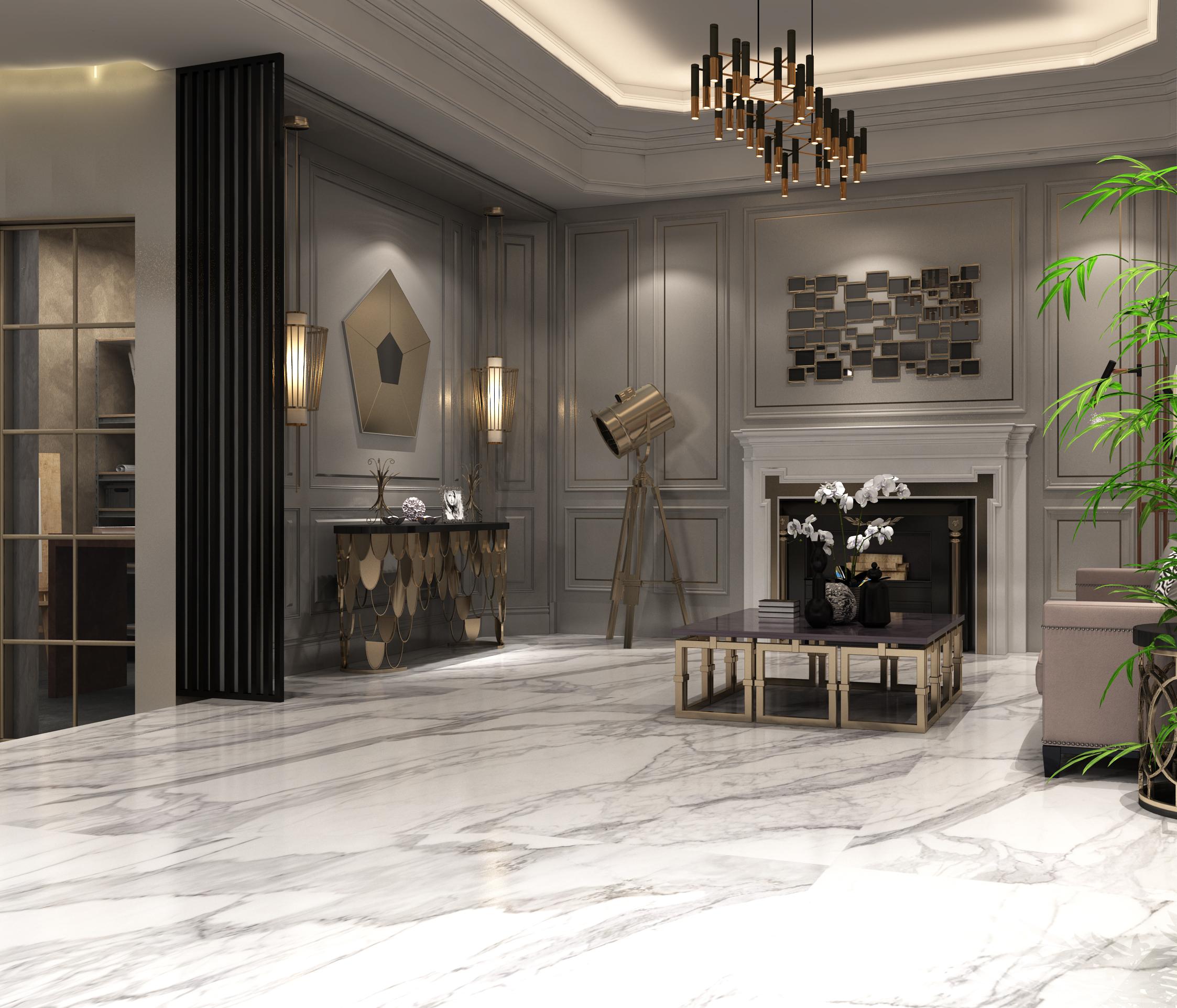【壹景】室内设计,个性展厅,多功能展厅设计,材料展厅效果图.