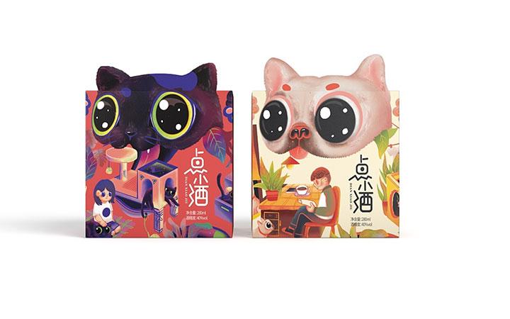 包装设计食品茶叶标签包装盒箱手提袋瓶贴礼盒白酒化妆品插画设计