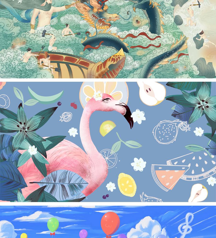 _插画动漫画人物卡通游戏CG商业外包手绘场景绘本游戏设计定制10