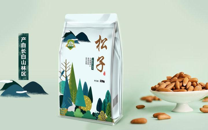 字体白酒水礼盒水果手提袋食品茶叶化妆品产品外包装盒设计电商