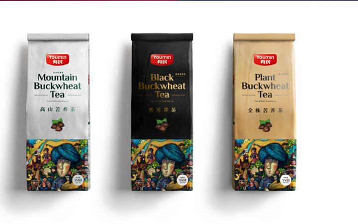 高端食品饮料包装设计酒水手提袋茶叶礼品盒产品手绘插画贴纸瓶贴