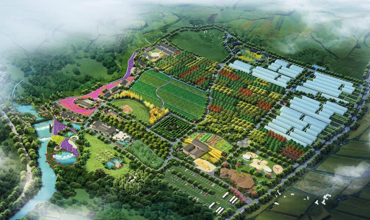农家乐休闲农业农业园农村住宅自建房美丽乡村规划设计施工效果图