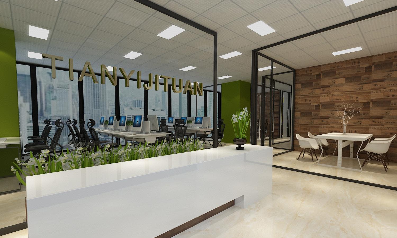 办公室设计室内设计装修设计公装设计装修效果图室内空间设计工装