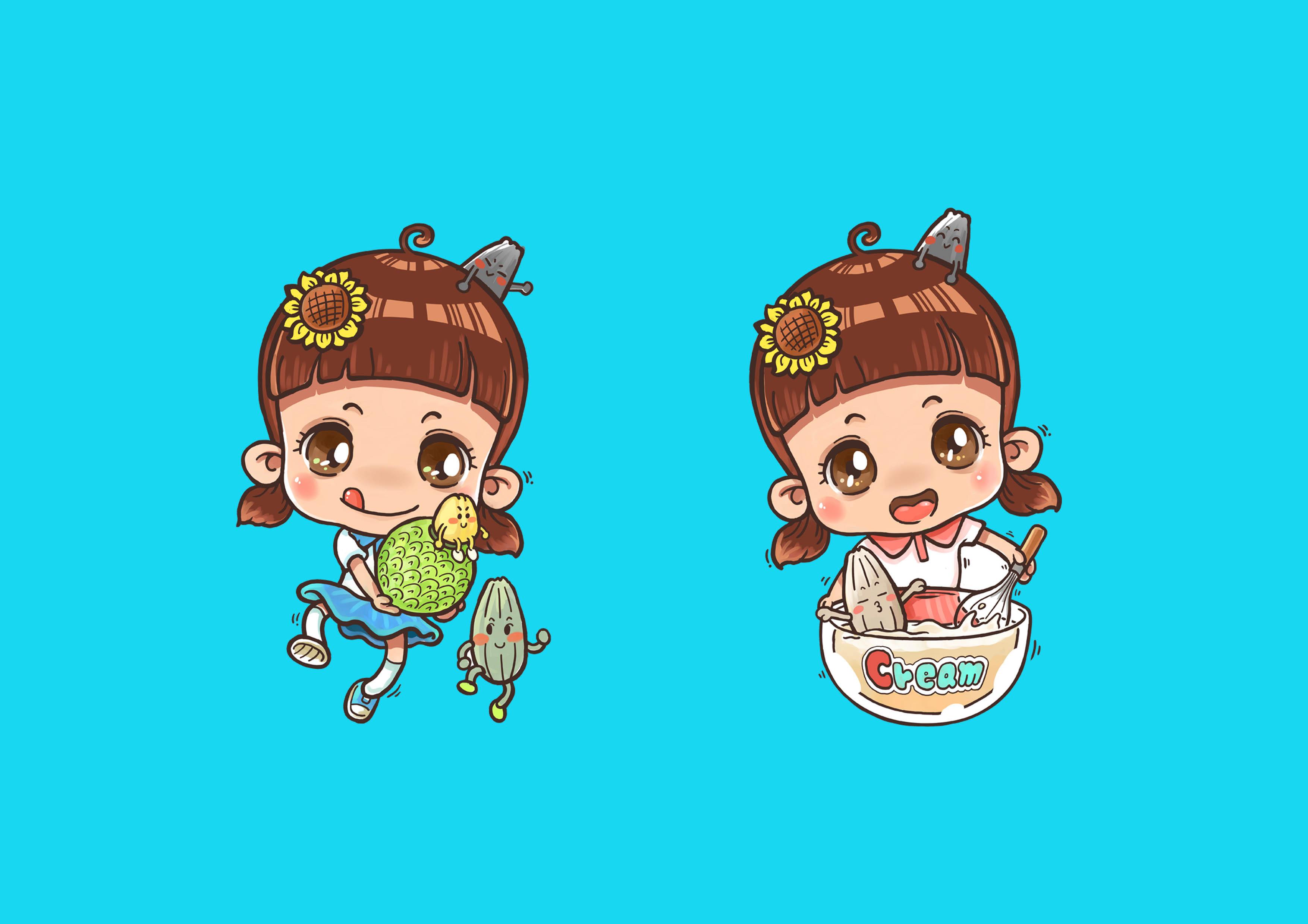 卡通形象设计,吉祥物设计,logo,动画模型商业插画四格漫画