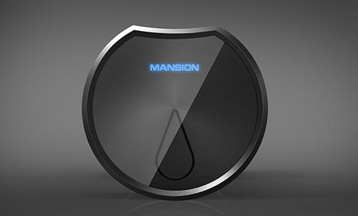 工业设计 产品外观设计 智能锁 指纹锁 别墅锁 玻璃门锁