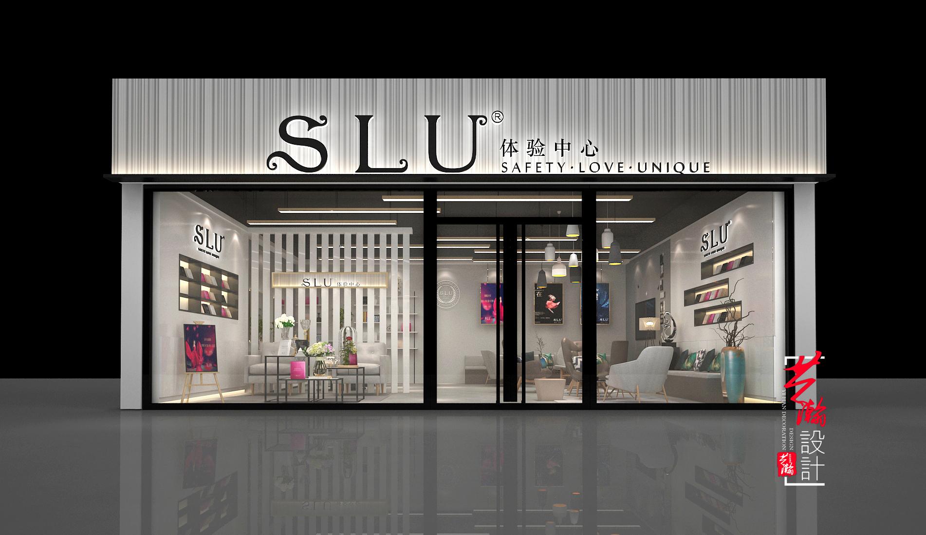 美容院效果图设计化妆品理发店铺装修设计美甲美发店效果室内设计