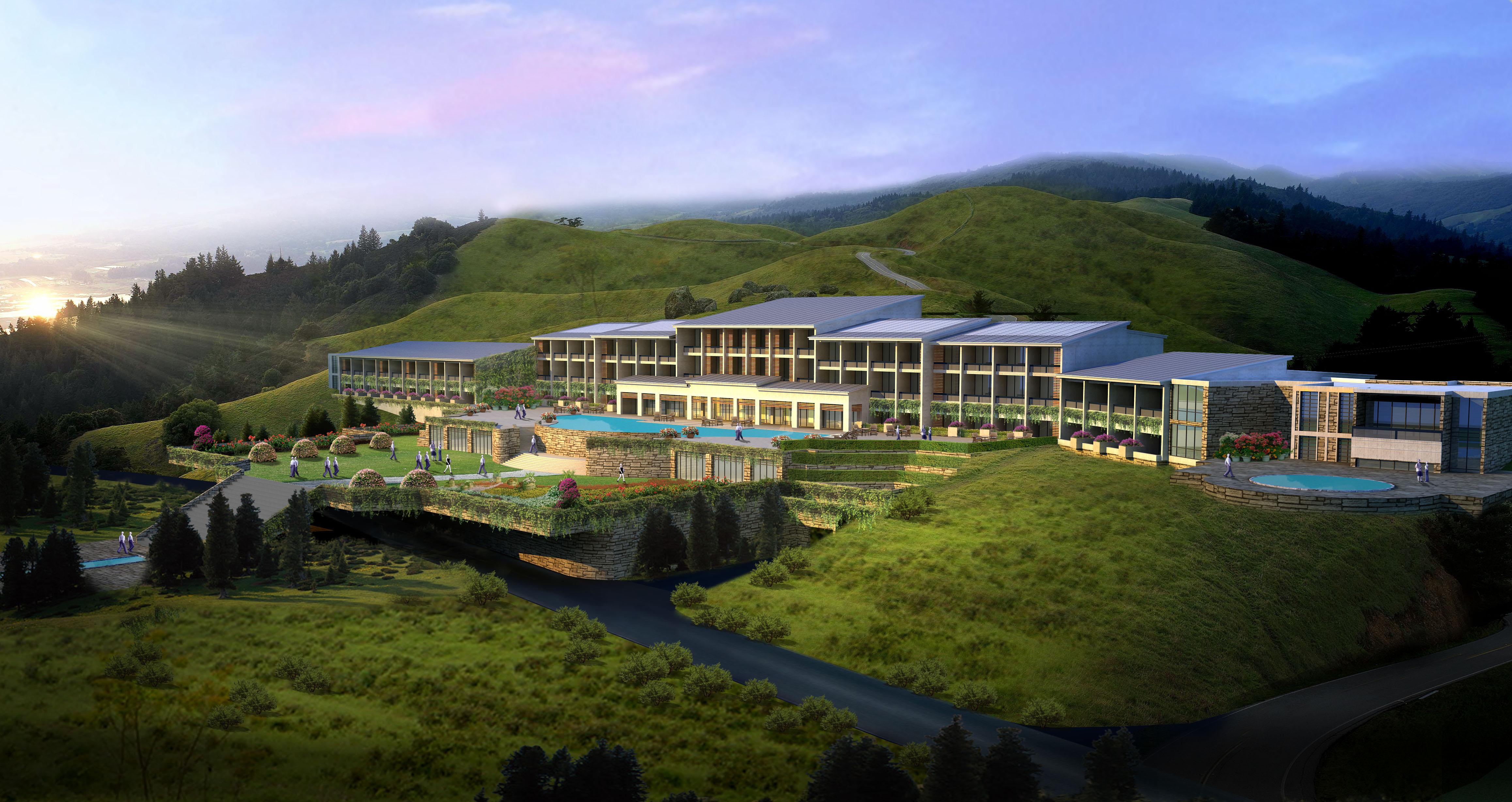 建筑效果图制作 建筑外观设计 别墅效果图 住宅办公楼效果图