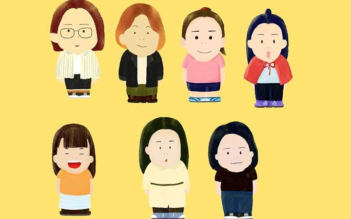 【头像】Q版卡通人物画像个性头像企业画像形象情侣全家福婚庆卡