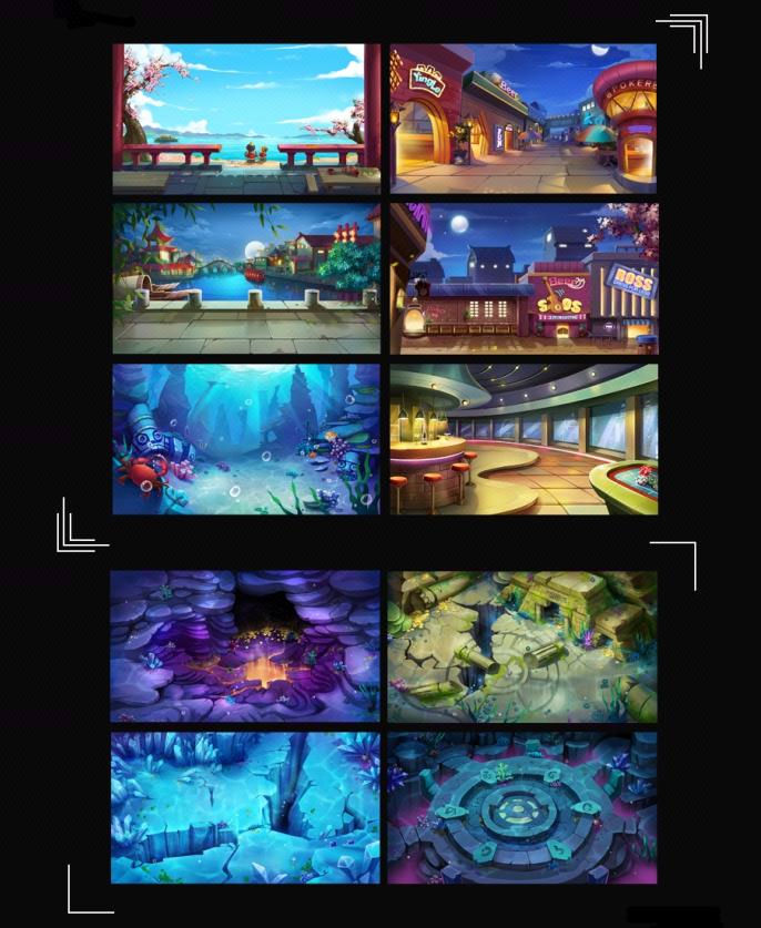 游戏美术外包服务-游戏原画 游戏场景 背景 游戏地图 建筑