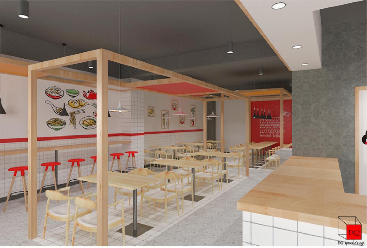 烤鱼火锅焖锅店快餐烤肉餐厅咖啡馆餐饮店酒吧连锁装修设计效果图