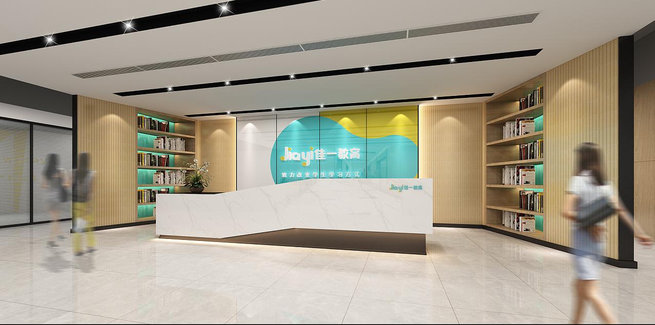 效果图设计 客厅电视背景墙 公司办公室前台文化形象墙设计