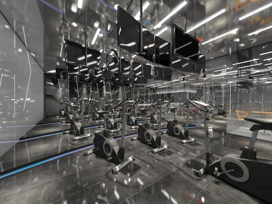 健身体育运动空间室内设计/健身房瑜伽馆舞蹈房/装修设计效果图