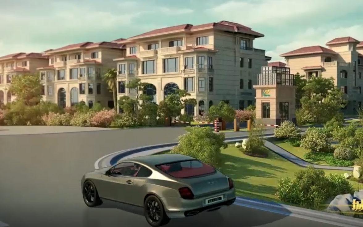 3D建模动画三维特房地产动画宣传建筑楼盘厂区漫游3d视频动画