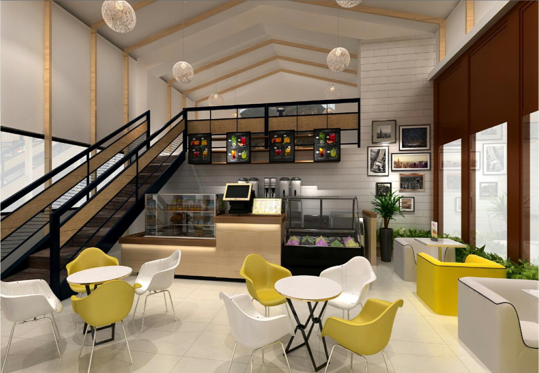 餐饮店面 装修设计 平面布局  效果图 施工图 西餐中餐快餐