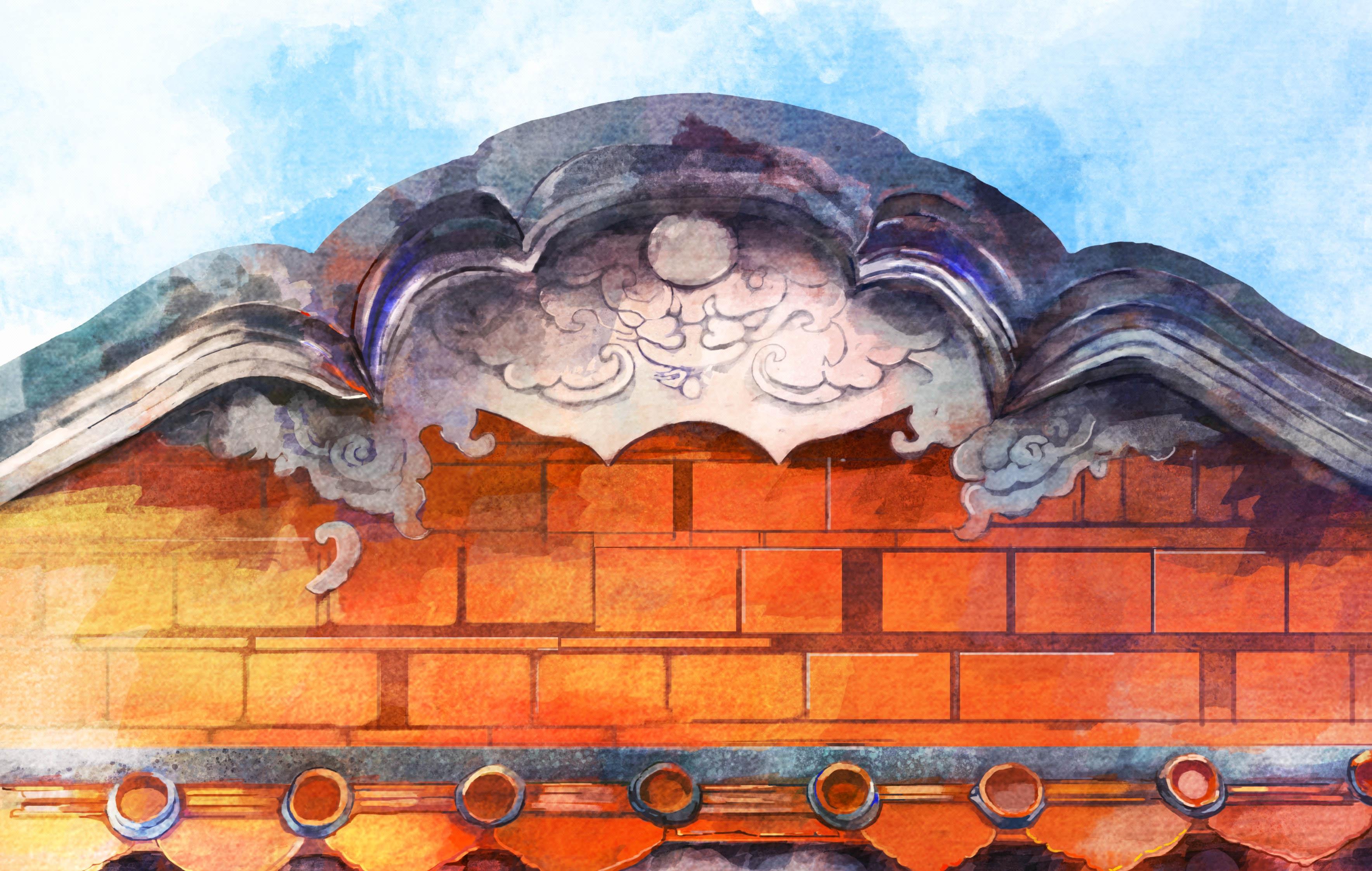 【旅游插画定制】景区插画景区文化景区地图景区文化墙旅游明信片