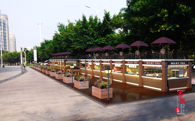 园林景观设计效果图公园外观规划设计自建房设计鸟瞰效果图设计