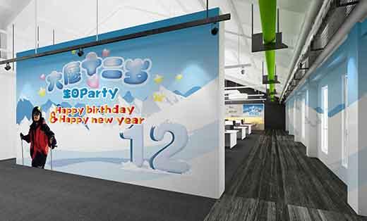 生日party主题展板设计