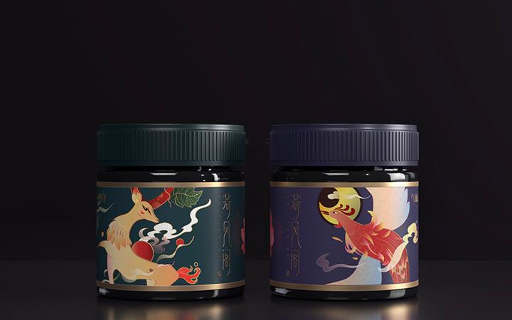 食品茶叶粽子月饼礼盒包装特产大米小米手提袋子手绘插画包装设计