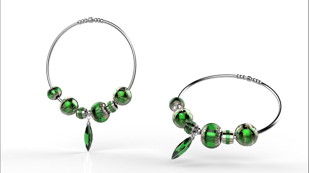 首饰饰品配饰项链手链礼品纪念品水晶礼品服饰建模渲染效果图设计