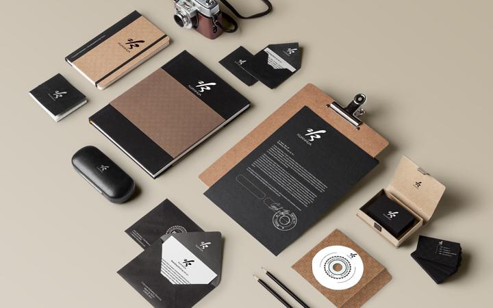 VI设计升级企业形象视觉设计导示餐饮高端字体设计VIS应用