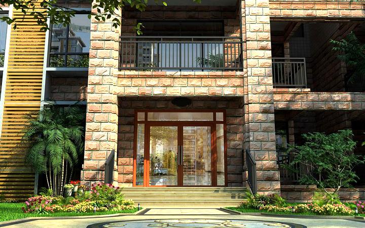 3D三维效果图制作建筑景观规划别墅商住办公楼装修效果图鸟瞰图